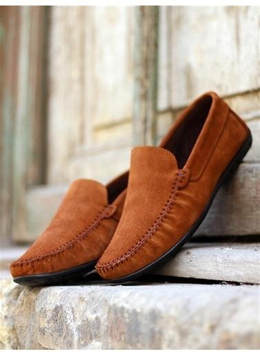 Rodrigo Erkek Lacivert Parlak Loafer Ayakkabı Camel